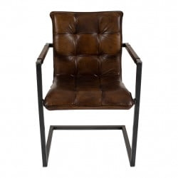 img-Chaise BOSTON havana - 55x58xh86cm