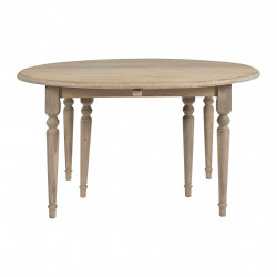 img-Table ovale MADIE extensible en épicéa - 112/232x136xh78cm