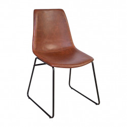 img-Chaise cholo marron 50x50xh83.5cm
