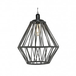 img-Suspension led solaire corde gris d38x47cm-2l