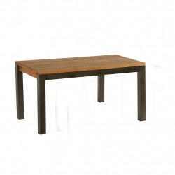 img-Table boris en chene massif huile - structure metal patine vernis 150x90xh78cm