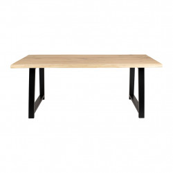 img-Table brice naturel et noir 200x100xh74cm