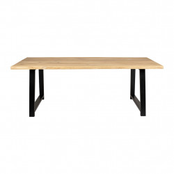 img-Table brice naturel et noir 220x100xh74cm