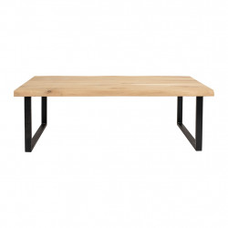 img-Table basse brice naturel et noir 120x40xh45cm