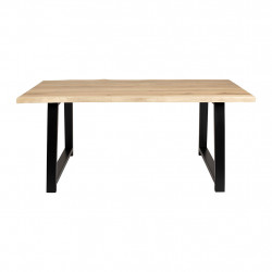 img-Table brice naturel et noir 180x90xh74cm