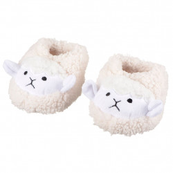 img-Chaussons mouton calin blanc