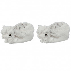 img-Chaussons bebe lapin blanc et gris