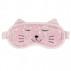img-Masque yeux relaxant chat rose