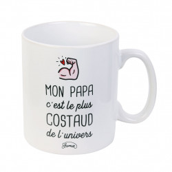 img-Mug xl papa le plus costaud blanc