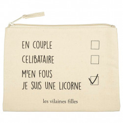 img-Trousse a maquillage je suis une licorne beige