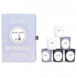 img-Coffret de 6 bougie blind test gris