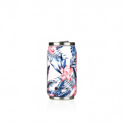 img-Canette isotherme 28cl leaf flamingo