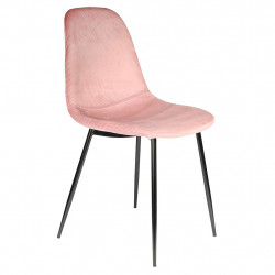 img-Chaise velours cotele giulia rose 54x44.2xh85.2cm