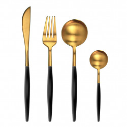 img-Menagere 16 pieces mazarin revel gold noir