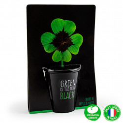 "img-Pot black ""green is the new black""- trèfle à 4 feuilles"