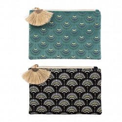 img-Set 2 pochettes japan gold Emeraude, Noir en Velours