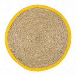 img-Set table rond boho naturel+jaune