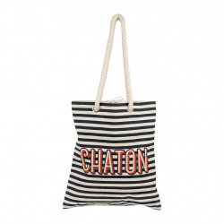 img-Sac palabras rouge+noir 38x42x42cm polyester+coton