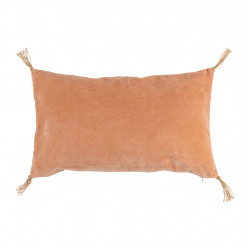 img-Housse de coussin vegetal girly rose 50x30cm velours coton