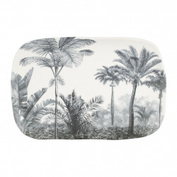 img-Plat rectangle papaye blanc,gris 27x18cm porcelaine