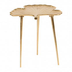 img-Table appoint ginkgo dore 42x36xh47cm aluminium