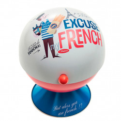 img-Sucrier boule excuse my french multicolore d13.5xh17cm metal