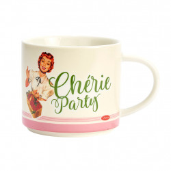 img-Mug bte cherie party multicolore 45cl-d9.5xh8.5cm porcelaine